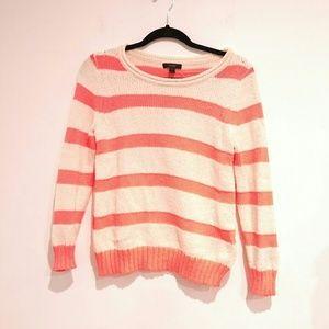 J.Crew Small Womens neon orange stripe sweater